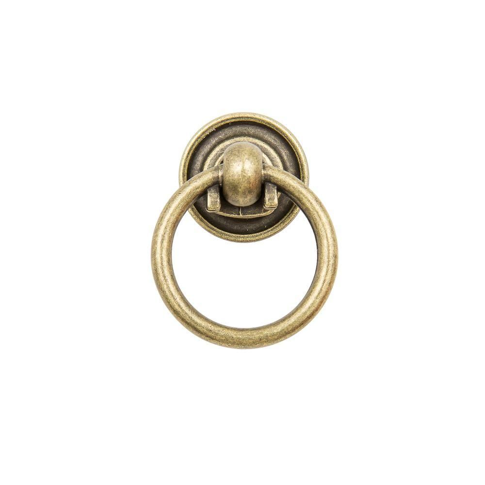 Sumner Street Home Hardware Small 1 1/2 In. Antique Brass Ring Pull