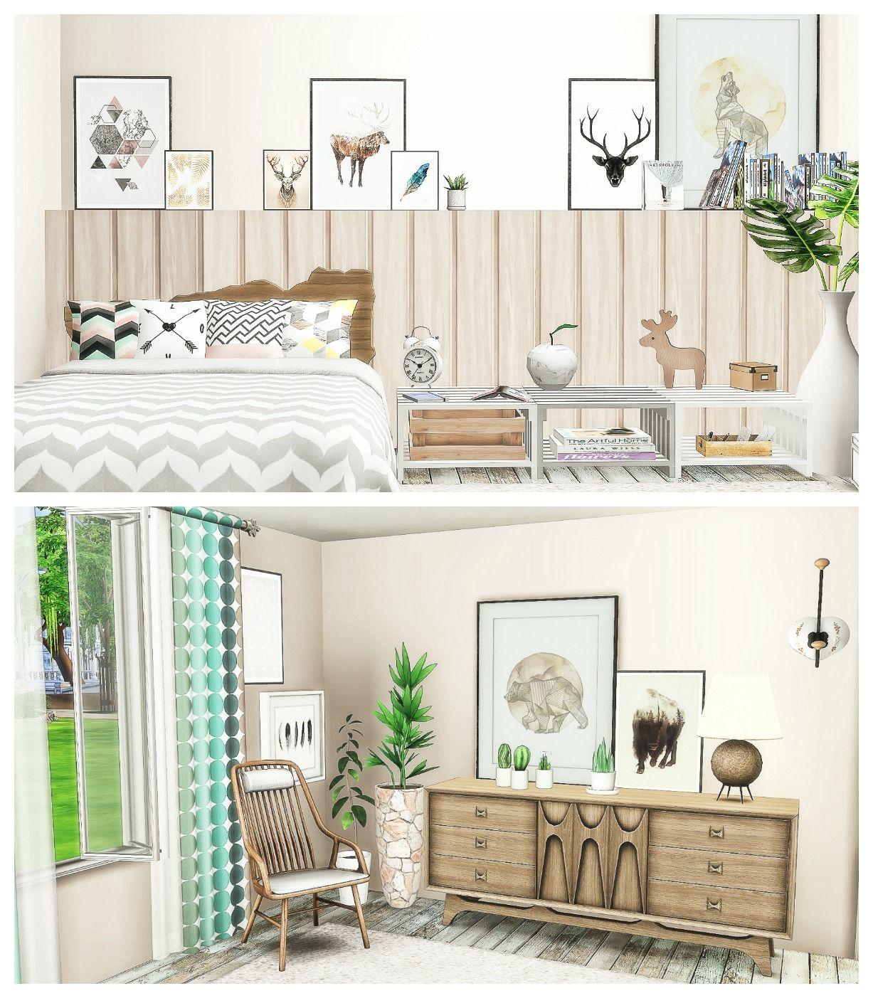 scandinavian bedroom sims 4 decoration sims cc pinterest scandinavian bedroom sims 4 decoration