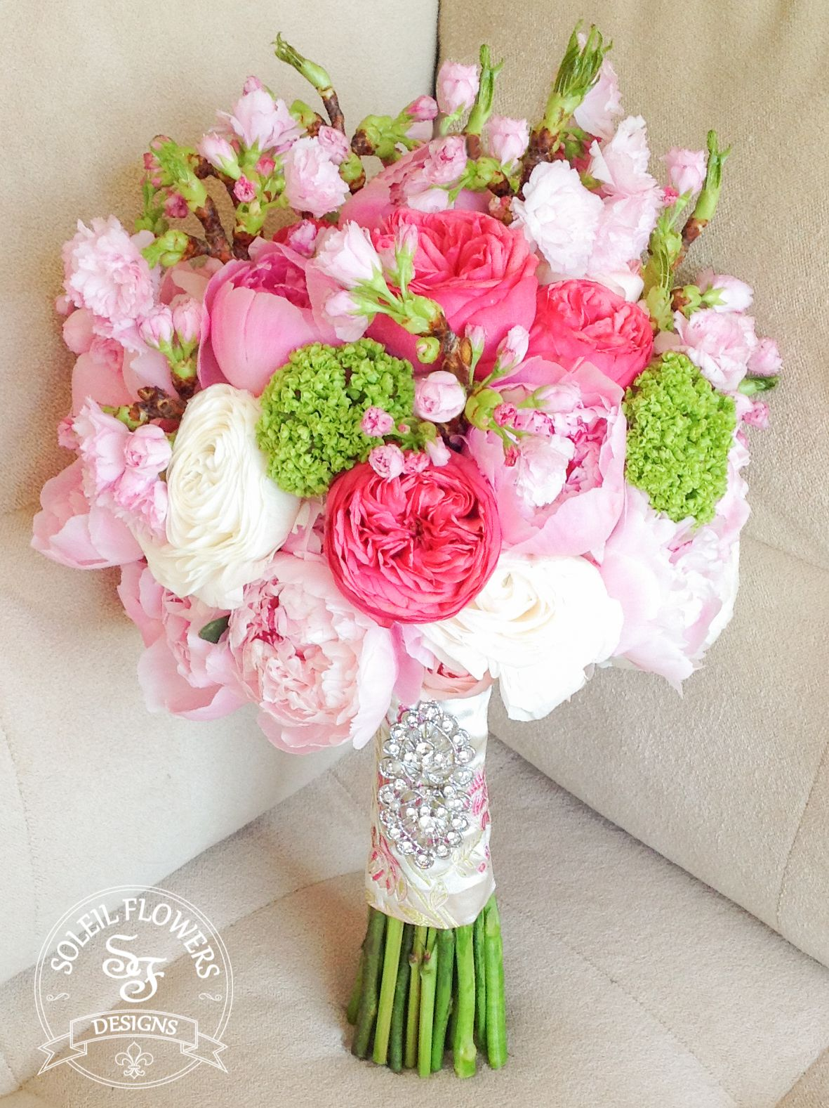 Pink Cherry Blossom Bouquet. Soleil Flowers, Temecula CA | WEDDING ...