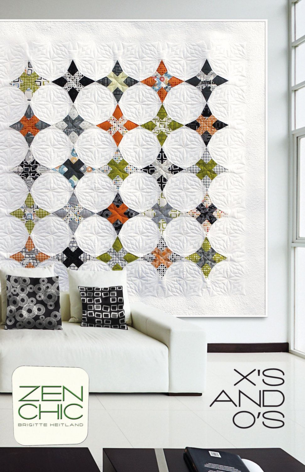 Zen Chic X's and O's Quilt Pattern XOQP by PinkDoorFabrics