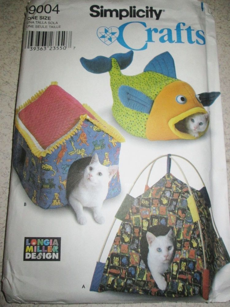 Simplicity Sewing Pattern 9004 Cat Pet Bed Fish House Tent