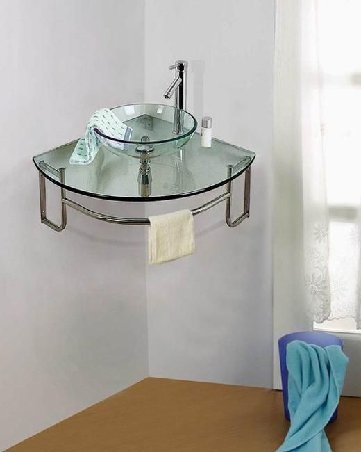 . Corner Bathroom Sinks Creating Space Saving Modern Bathroom Design