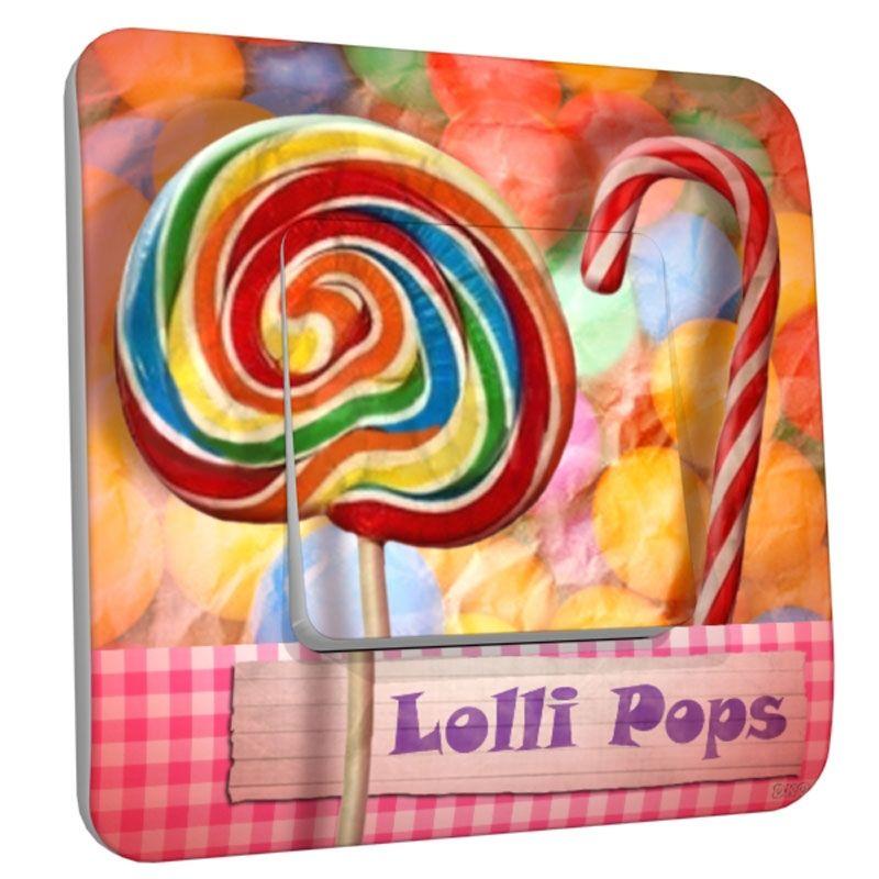 Interrupteur décoré simple Lolli pops : DKO Interrupteur - Interrupteur - Berceau Magique