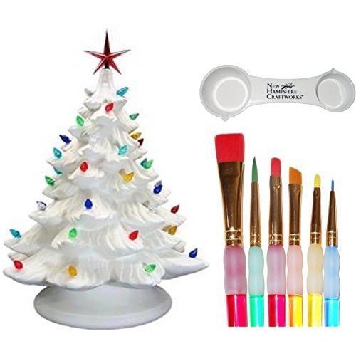 Ceramic Bisque Ready To Paint Large Christmas Tree Base Light Up Electrical Cord Bulb Mult Christmas Tree Base Large Christmas Tree Ceramic Bisque