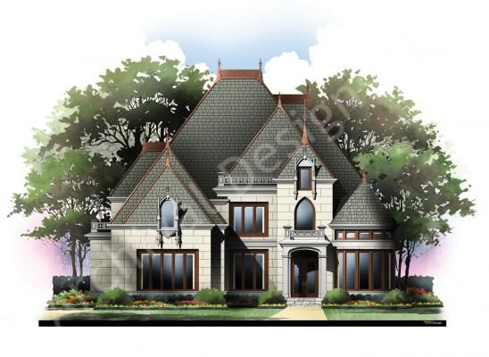 Blanchard House Plan Victorian House Plans Castle House Plans Luxury House Plans