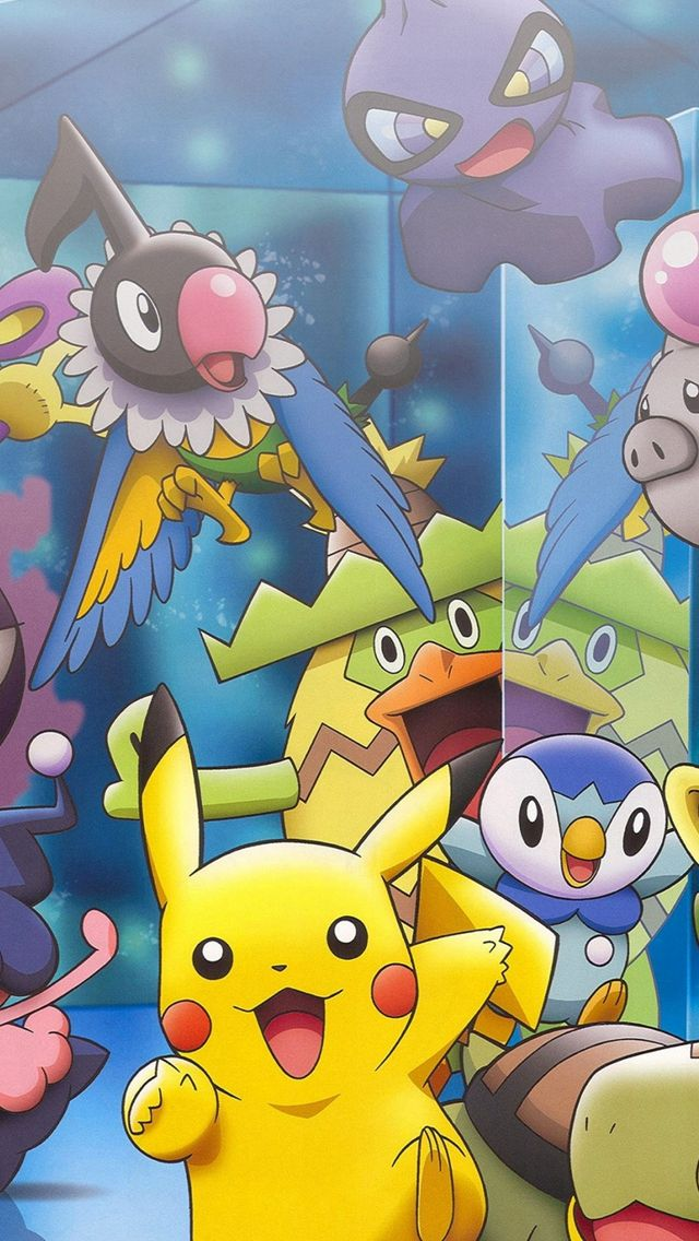 Pokemon Characters Game Happy Role iPhone Wallpapers