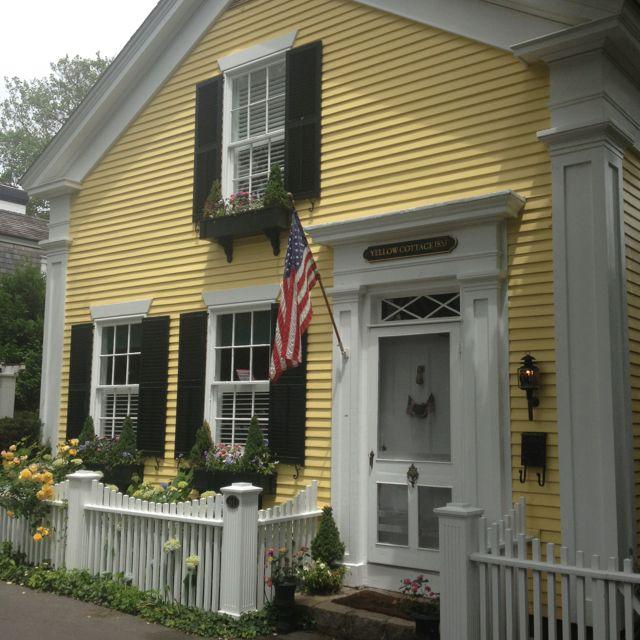Yellow Cottage. Built 1853. Edgartown. Yellow Siding