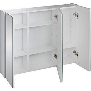 san francisco 453ad eba64 Buy Triple Mirrored Bathroom Cabinet - White at Argos.co.uk ...