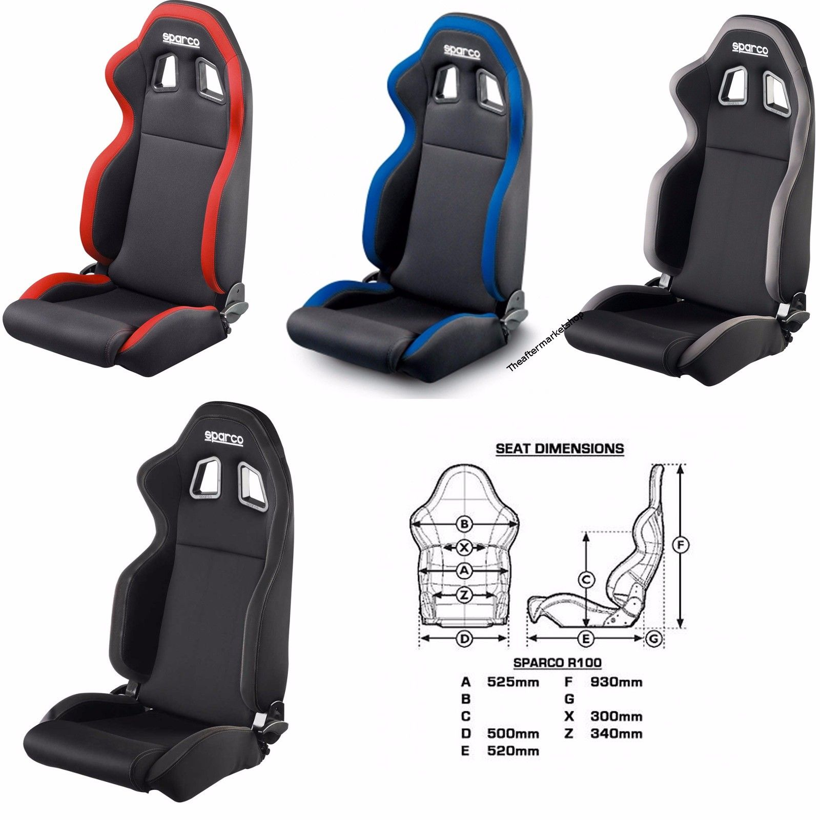 Image result for sparco r100 seat dimensions | Cars | Racing