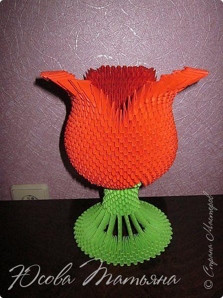 Попыталась сделать вазу в форме цветка. фото 1
