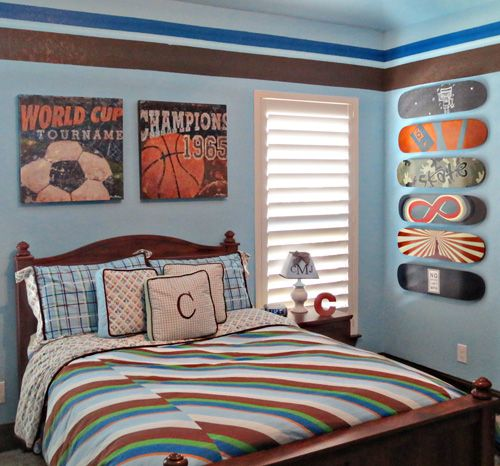 If Your Mvp Wants A Sports Themed Room Use Some Simple Accessories To Avoid