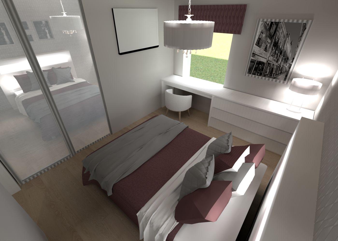 3D - sisustussuunnittelu / moderni-romanttinen makuuhuone, modern-romantic bedroom / 3D-sisustus Tilanna