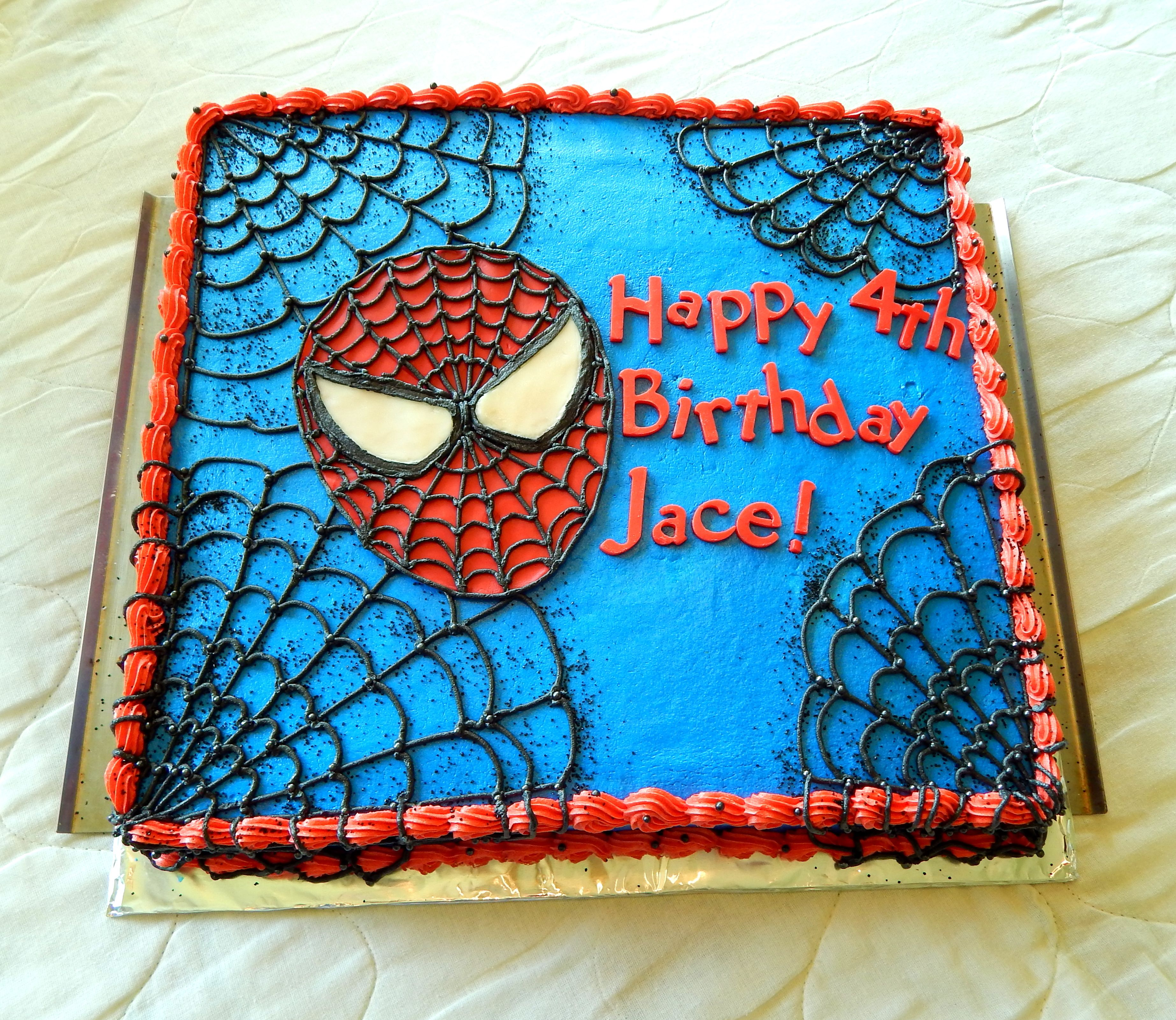 Pin by Sheila Bolton on Baking | Spiderman birthday cake ...