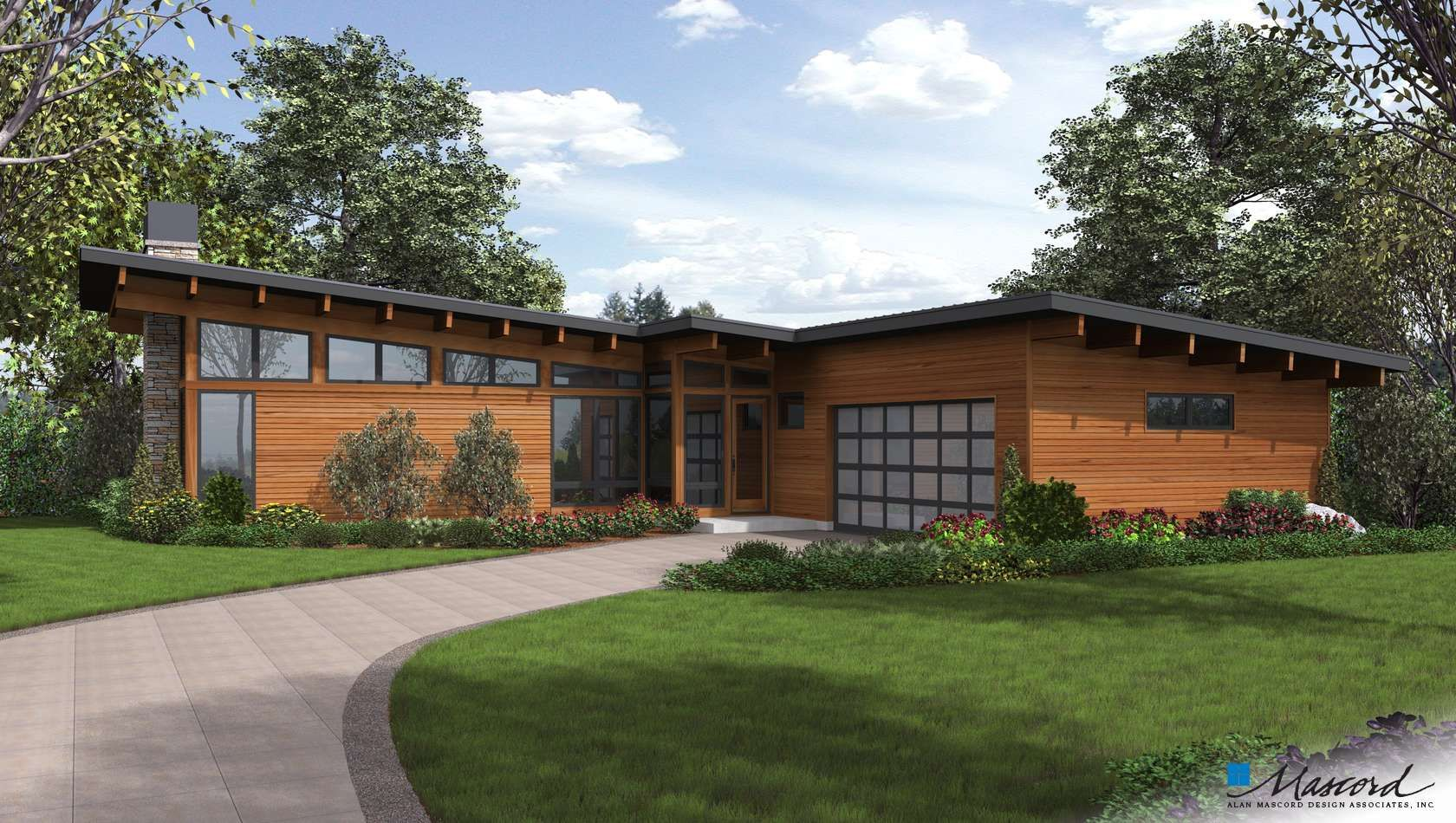 Contemporary House Plan 1256 The Delores 2110 Sqft 3 Beds 2 1 Baths Contemporary House Plans Architectural Design House Plans Backyard Pool