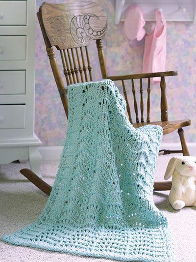 Sweet Scallops - love the edging on this throw - beautiful! KNITTING ...
