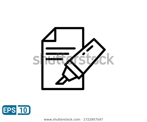 Line Style Icon Marker Pen On Stock Vector Royalty Free 1722957547 In 2020 Marker Pen Style Icon Icon