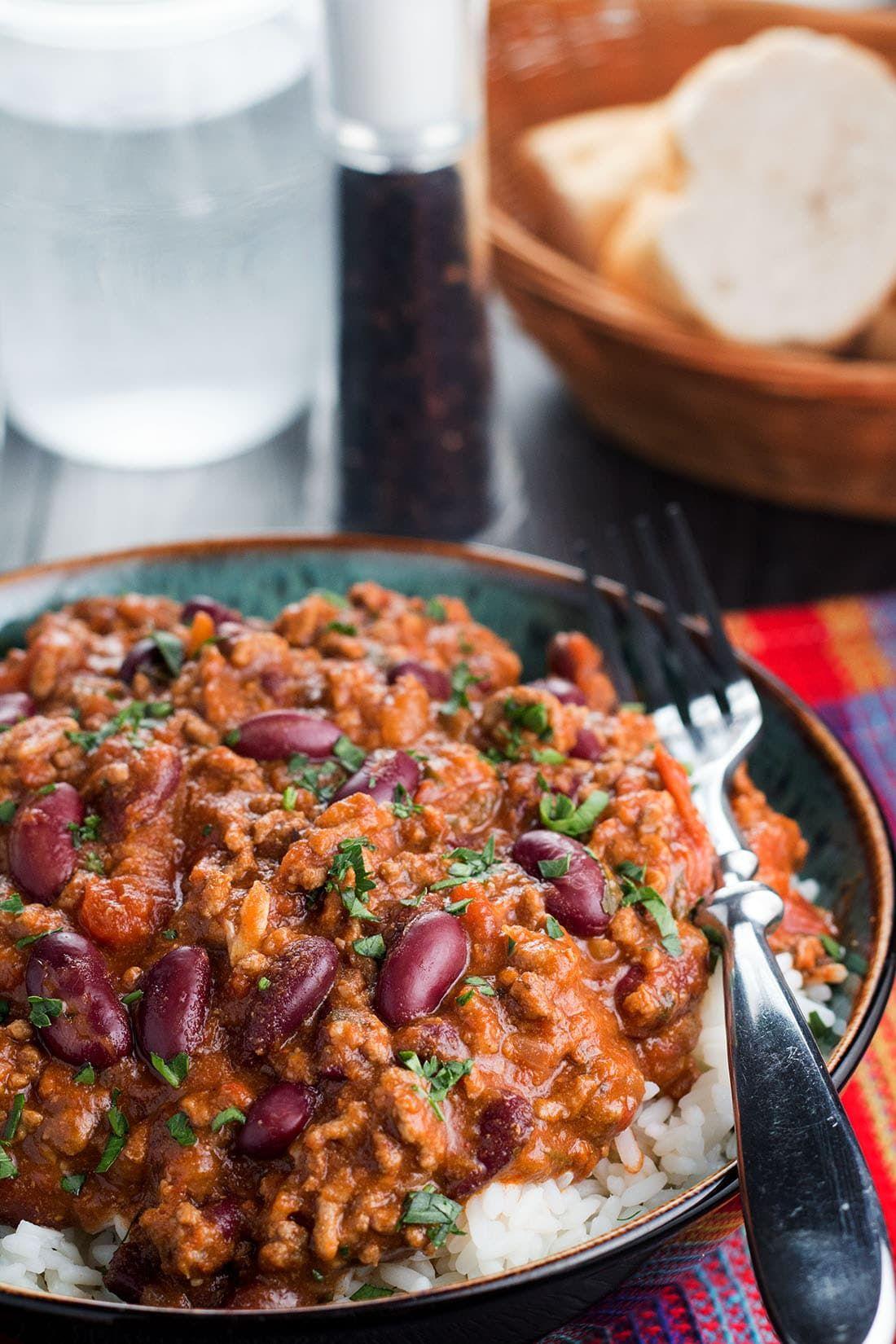 Classic Chili Con Carne Recipe Con Carne Recipe Chili Con Carne Recipe Chilli Con Carne Recipe