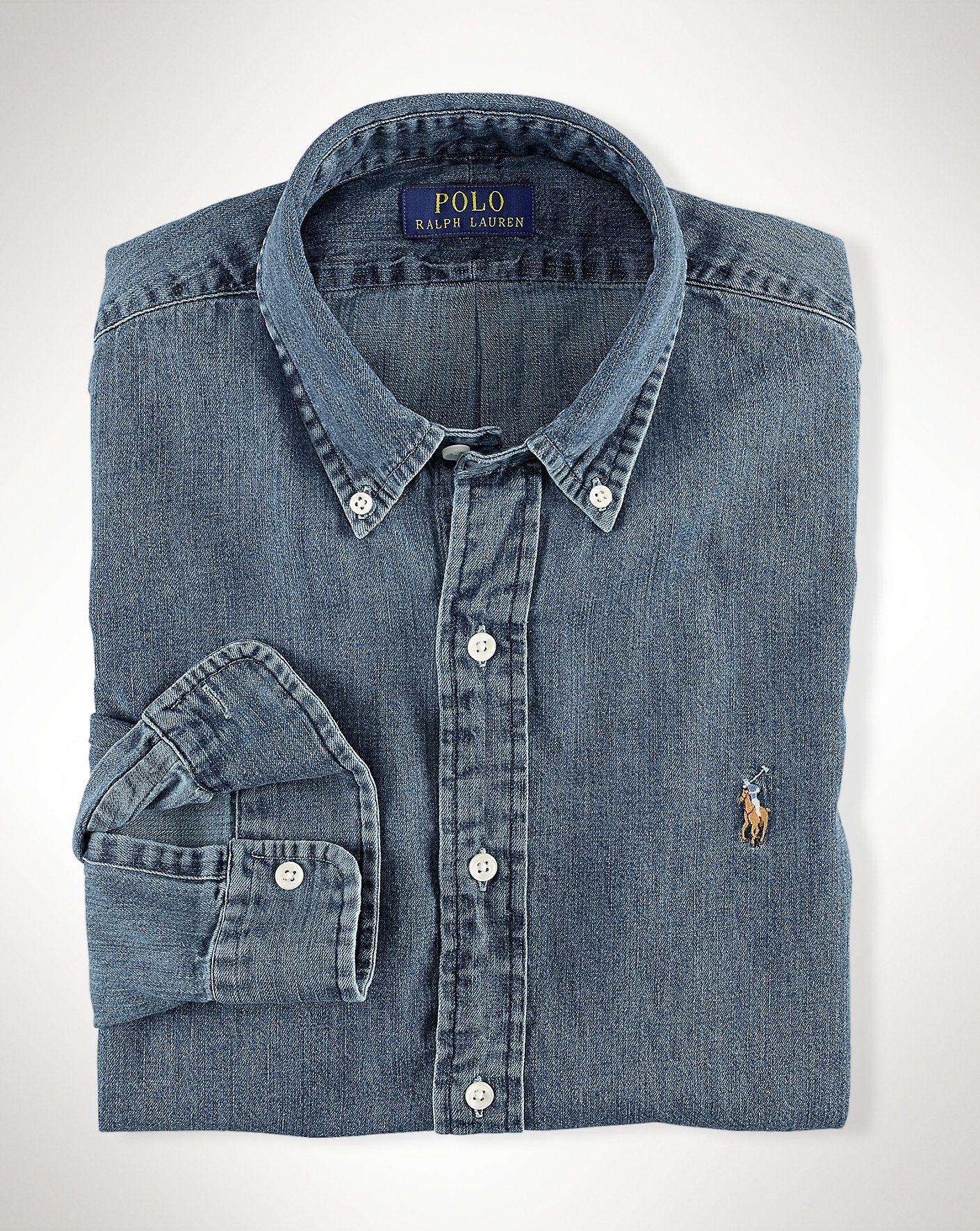 b21a7bfdb5d19 Polo Ralph Lauren - Slim-Fit Denim Shirt XL