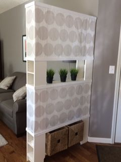 ikea hack room divider room divider made with 2 ikea gnedby storage towers as columns one. Black Bedroom Furniture Sets. Home Design Ideas