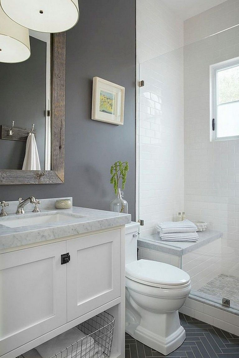 53 Amazing Modern Farmhouse Small Master Bathroom Ideas Small Master Bathroom Bathroom Remodel Master Cheap Bathroom Remodel