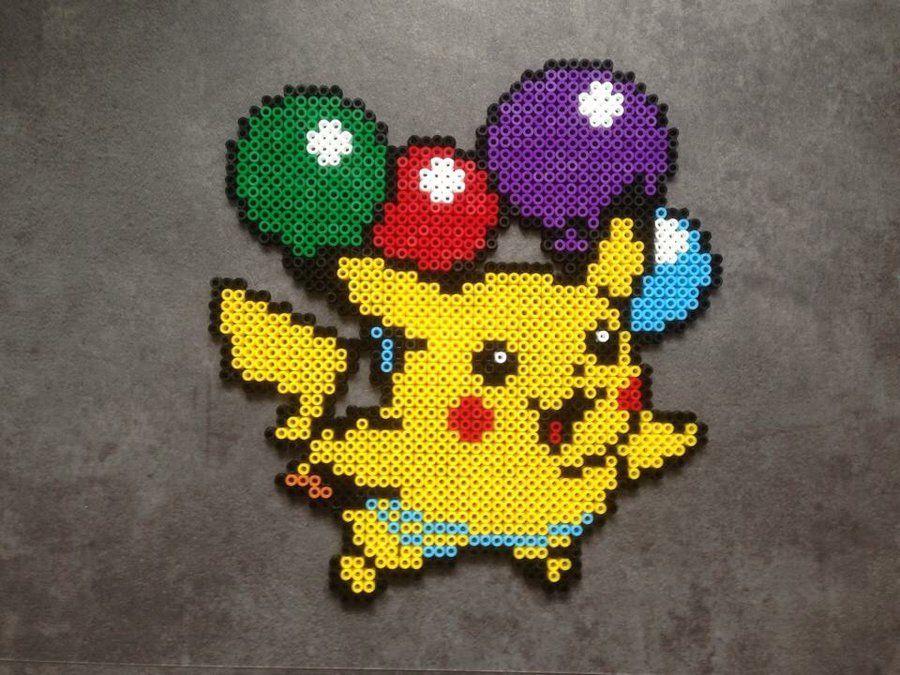 Flying Pikachu Perler Bead Sprite By Rares4 Perler Beads Pokemon