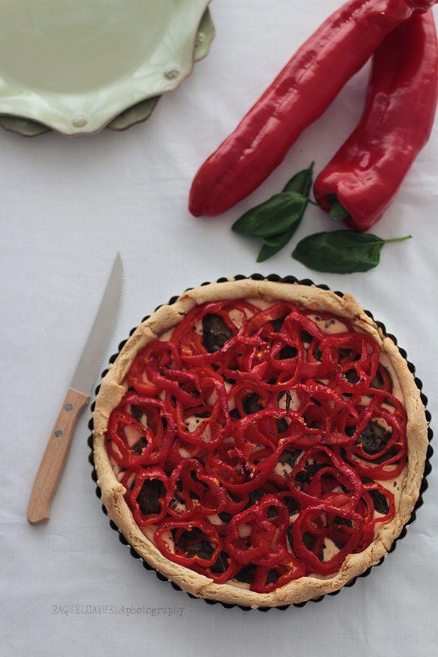 Raquel's Kitchen: Tarta de Queso de Cabra y Pimientos Rojos