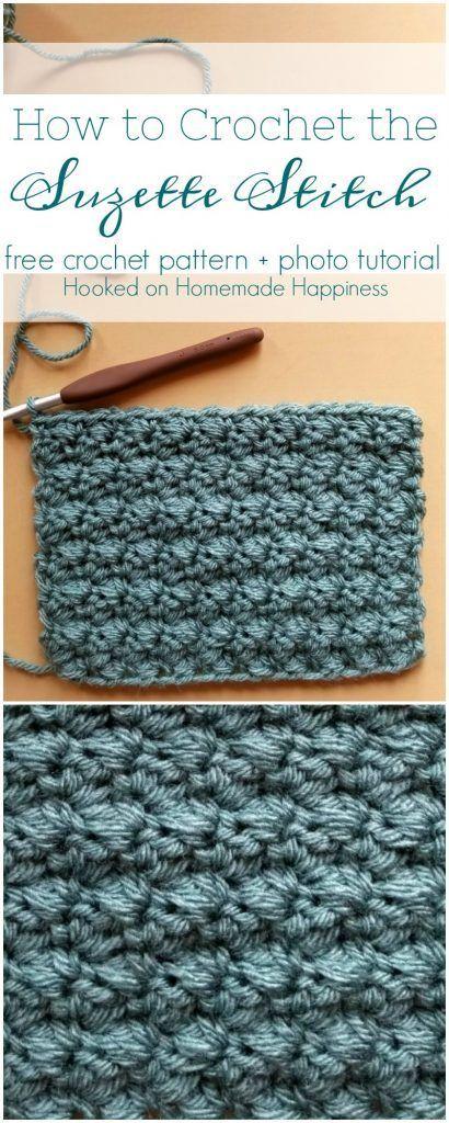 How to Crochet the Suzette Stitch | crochet | Pinterest | Tejido ...