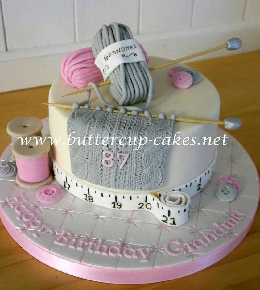 Knitting cake | Patchwork cake, Cake, Knitting cake