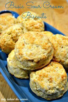 Basic Sour Cream Biscuits #sourcream