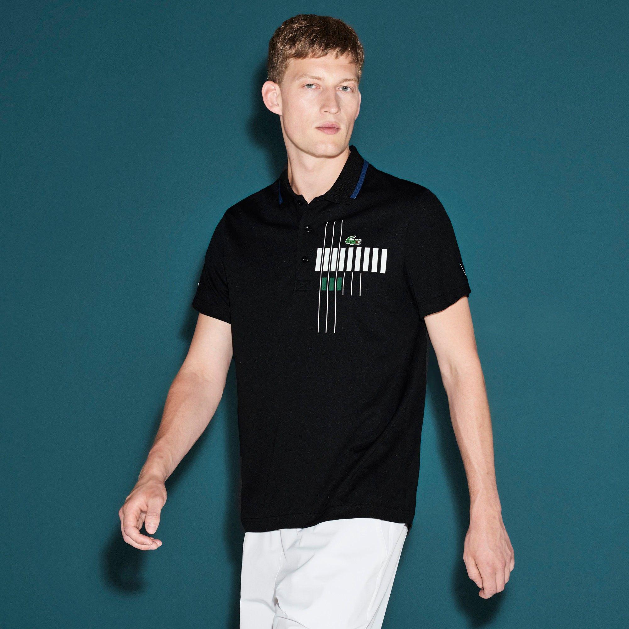 LACOSTE x Novak Djokovic White EXCLUSIVE EDITION Men/'s Polo Shirt NEW