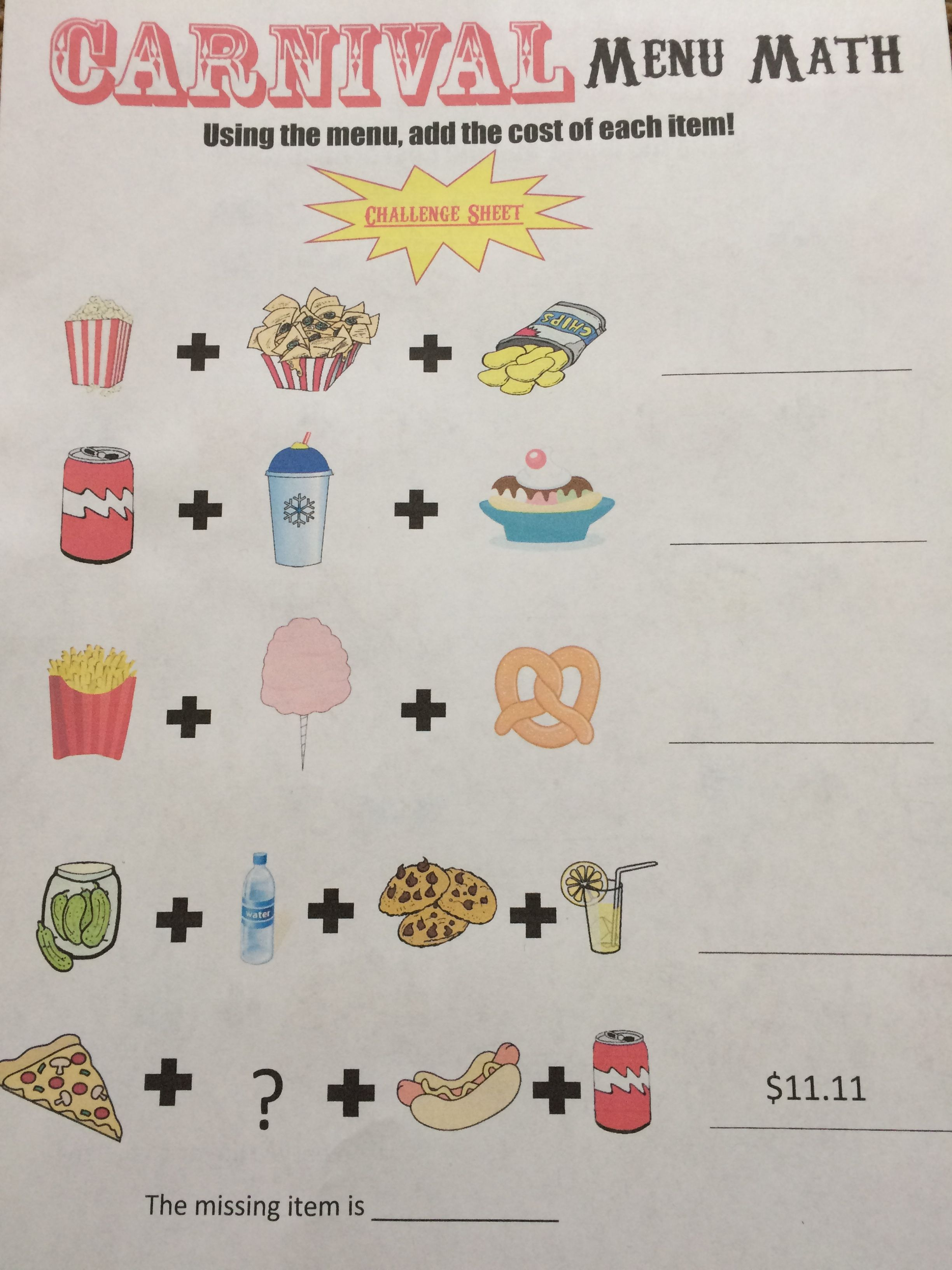 A Challenge Worksheet For The More Advanced Students They