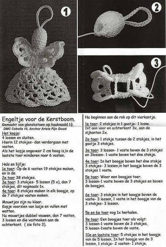 Kerst Engeltjes Haken Angels Pinterest Noël Crochet Crochet
