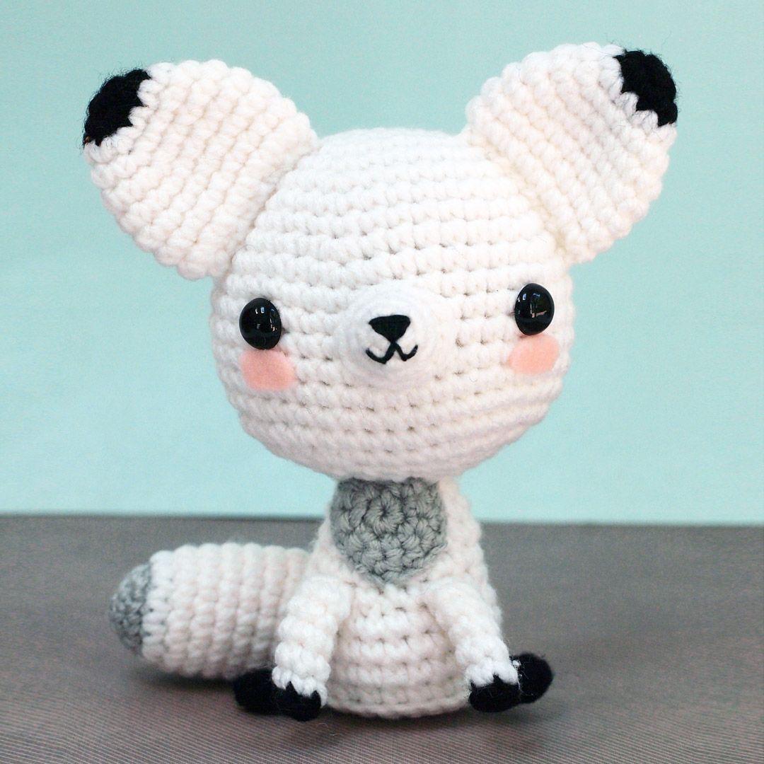 Arctic Snow Fox Amigurumi at shanalogic.com | collectible plushies ...