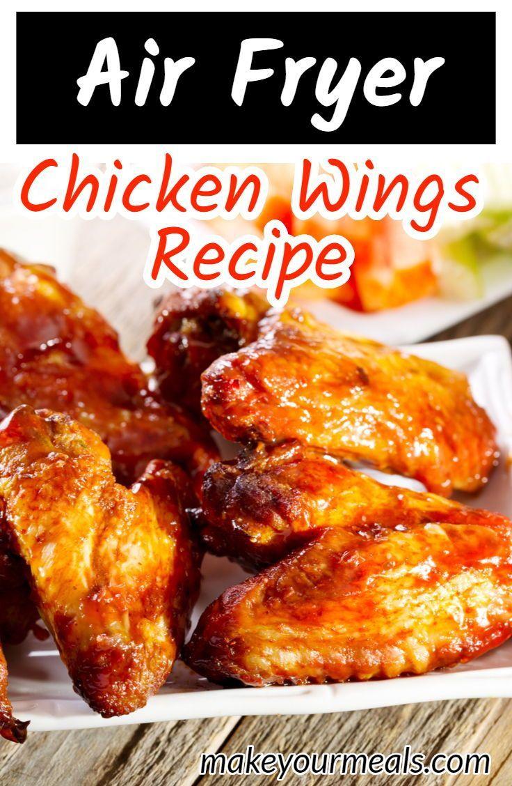 Air fryer chicken wings recipe wing recipes chicken