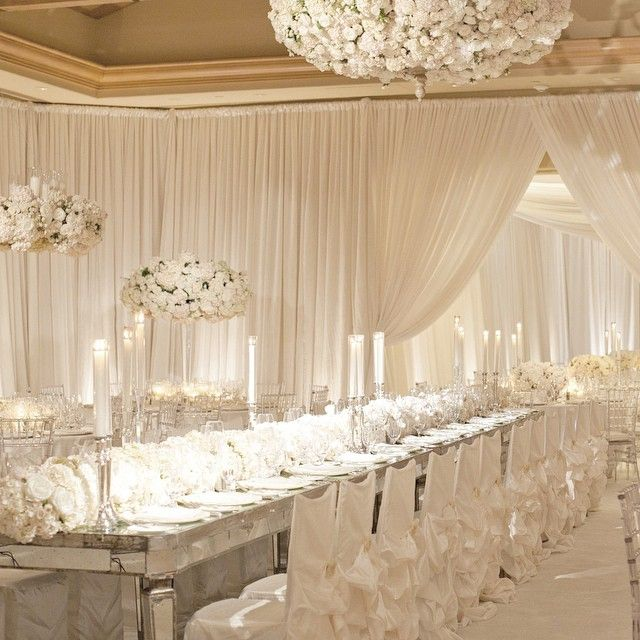 Gold And White Wedding Ideas: Presents 25 Stunning All White Wedding Reception Decor