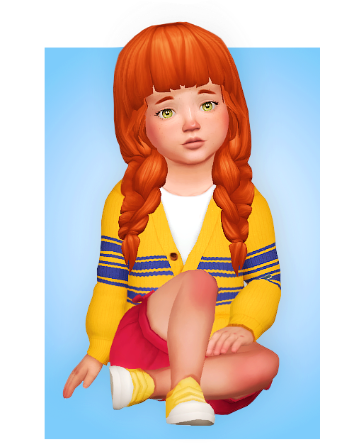 Lily Hair New Hairstyle For Your Toddler Sims Sims 4