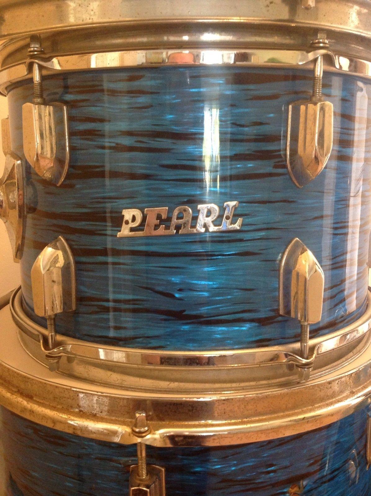 Pearl Vintage Drum Kit 1960's Era Jazz Kit 20 12 14 14  Ebay