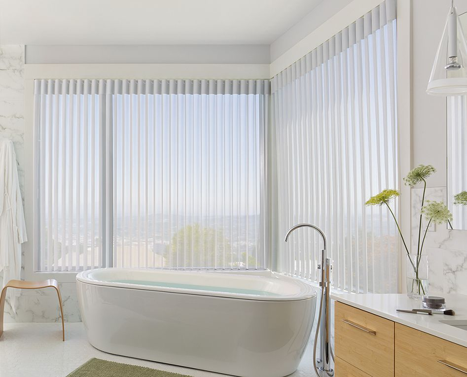 Beautify Your Bathroom With Luminous Light Filtering Elegance And Style Of Luminette Privacy