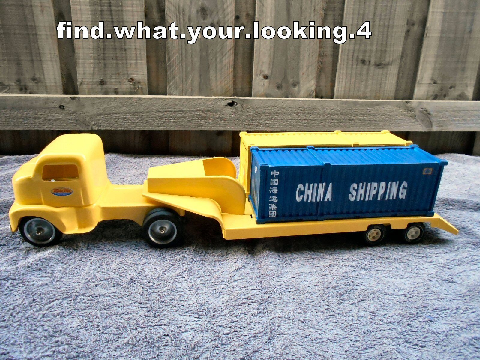 TONKA 1953 CUSTOM SHIPPING CONTAINER TRUCK AND TRAILER VERY NICE ...
