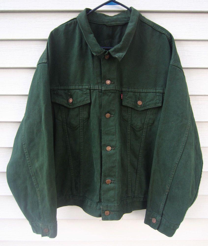 86a810b4 +Vintage Levi's Forest Green Denim Jacket 70597-0862 Men's XXL #Levis  #BarnJacket