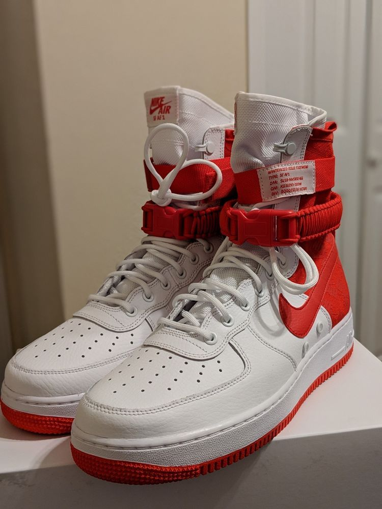 03beecd145b9 NIKE SF-AF1 High Air Force 1 University Red White AR1955-100  fashion   clothing  shoes  accessories  mensshoes  athleticshoes (ebay link)