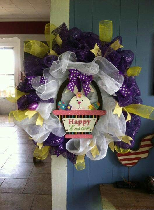One of my Easter wreaths