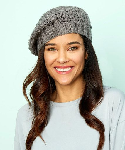 07b0b280b5c Lace Beret- Free pattern from Red Heart website | Hats! Hats! Hats ...