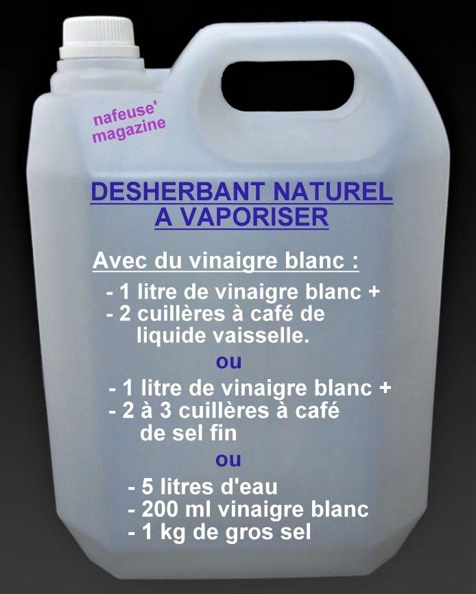 Faire Son Desherbant Naturel Pour Le Jardin Desherbant Naturel