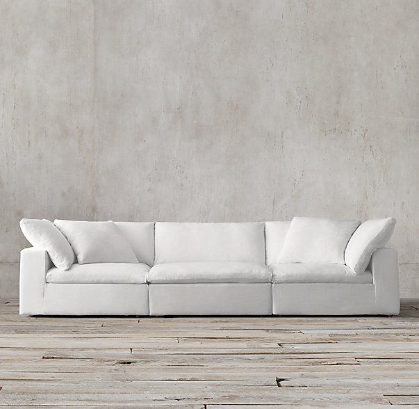 "The Petite Cloud Cube Modular Sofa Armless Chair: 35""W x 36""D x 31½""H Corner Chair: 36""W x 36""D x 31½""H or sofa is 8'9"" 36D"