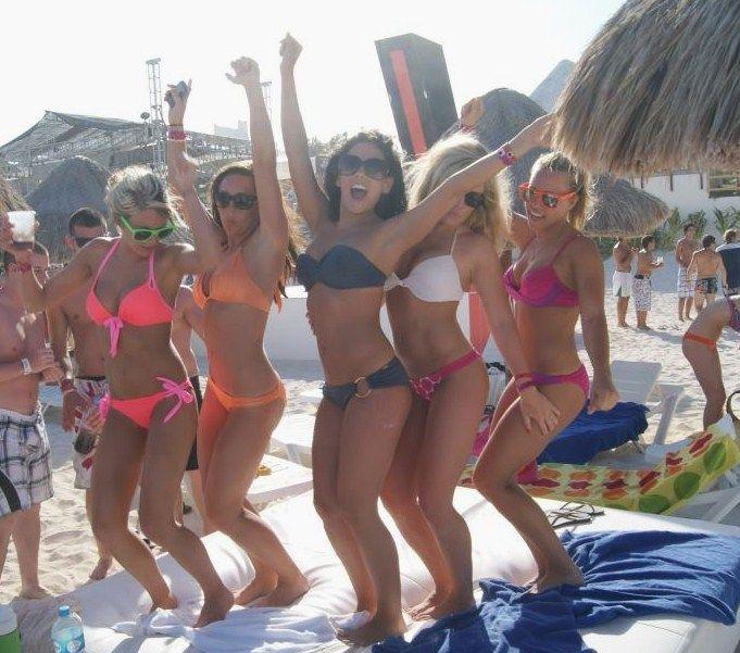 Spring break dare bikini parking lot
