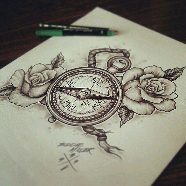 Resultado de imagem para bussola neo traditional tattoo for Tatoo bussola