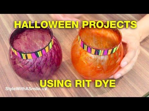 Jonathan Fong's Halloween Projects Using Rit Dye.