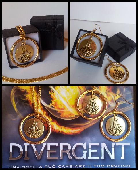 #Divergent #Intrepidi #Collana #Orecchini #Tris #Fiamme