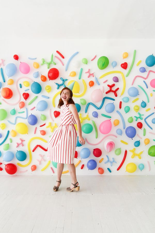 Simple Birthday Decoration On Wall : Balloon wall photobooth oh happy day parties events